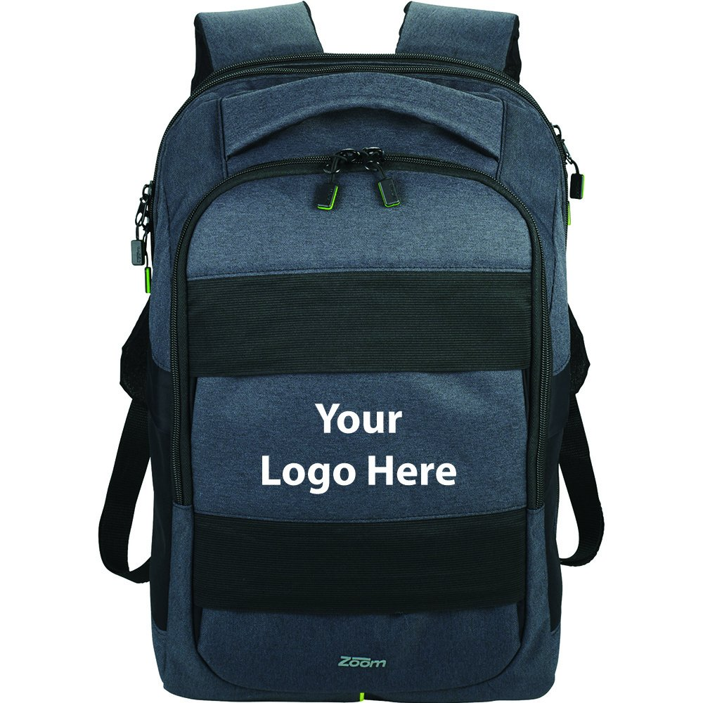 Zoom Power Stretch TSA 15'' Computer Backpack - 12 Quantity - $63.25 Each - PROMOTIONAL PRODUCT / BULK / BRANDED with YOUR LOGO / CUSTOMIZED