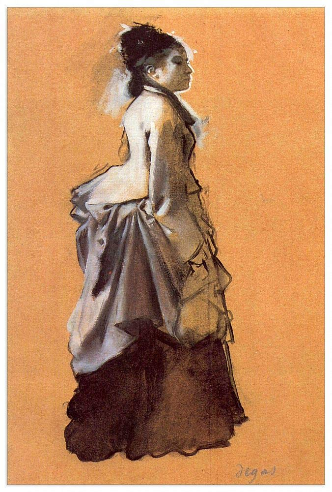 ArtPlaza TW93124 Degas Edgar - Young Lady in The Road Costume Decorative Panel 27.5x39.5 Inch Multicolored