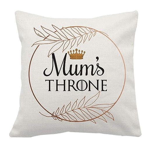 Artylicious Mums Throne - Cojín de Lino para el día de la ...