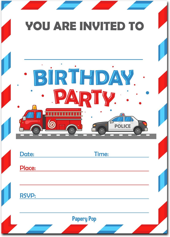 30 Birthday Invitations with Envelopes (30 Pack) - Kids Birthday ...