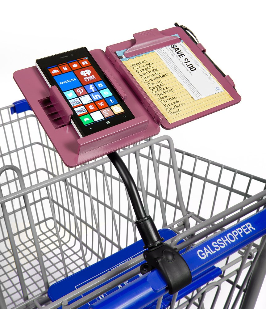 Details about GalsShopper Pink - All In 1 Shopping Organizer, 1 Clip On Any  Shopping Cart