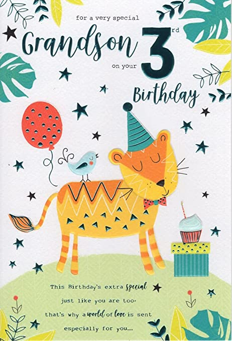 For a special grandson on your 3rd birthday card 7816 cg amazon for a special grandson on your 3rd birthday card 7816 cg bookmarktalkfo Images