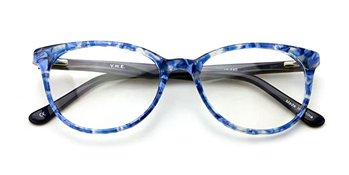 a661ab7190 Women Floral Fashion Acetate Non-prescription Glasses Frame Clear Lens  Eyeglasses Rx able (