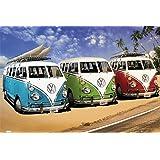 VW Transporter Poster Love California Camper Kunstfoto Hochformat 61 x 91,5 cm