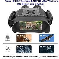 """Bestguarder HD Digital Nachtsichtgerät mit 32G Speicherkarte HD 2592 * 1944 Bild & 1280 * 720 Video mit Tom 4.5X40mm Fernglas mit Zeitraffer Funktion 4"""" LCD Widescreen von 400m / 1300ft in Dunkelheit"""