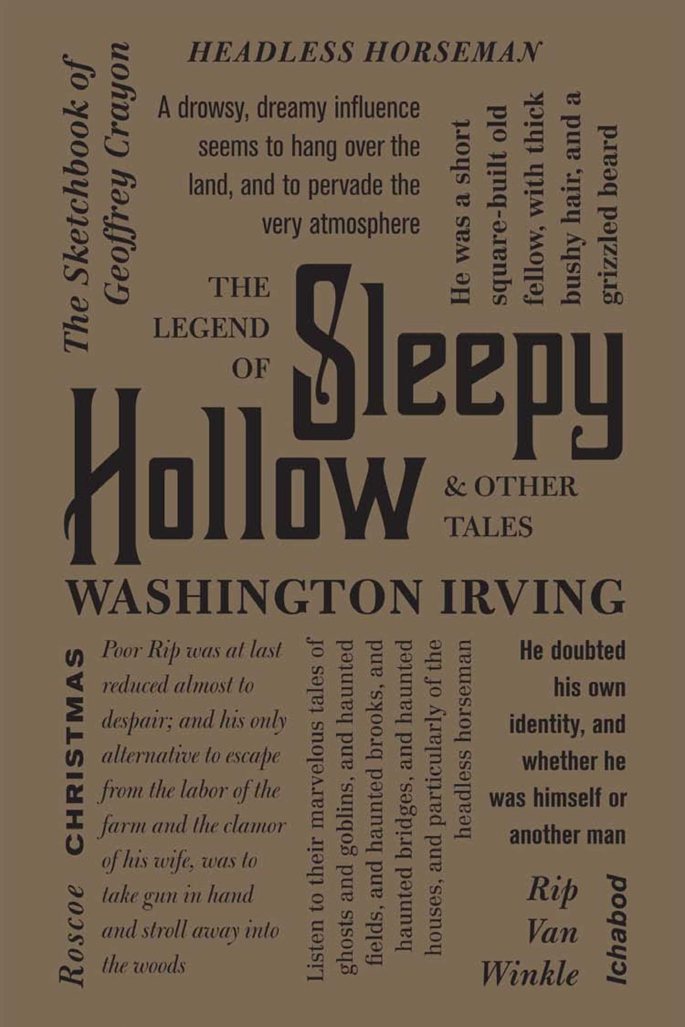 Image result for the legends of sleepy hollow word cloud classics