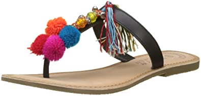 Molly Bracken Damen Sandale Tassels Et Pompons