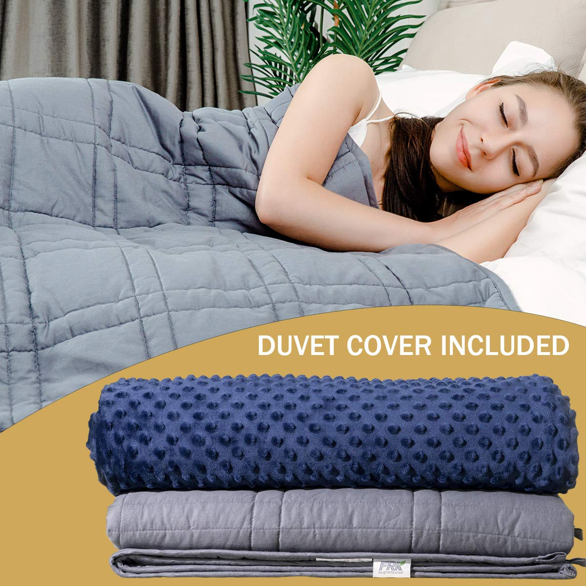 Best Weighted Blanket 2020.Amazon Com Frk Weighted Blanket 12 Lbs Queen Size Heavy