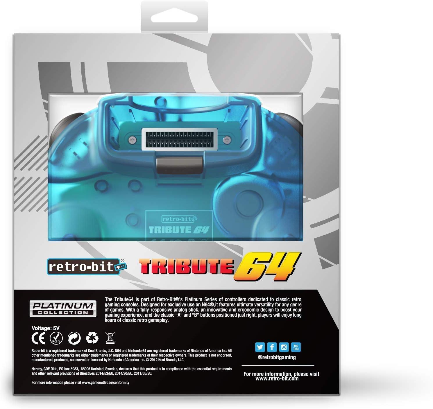 Retro-Bit Tribute 64 for Nintendo 64 - Ocean Blue [Importación ...