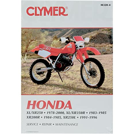 amazon com clymer repair manual for honda xl xr 200 250 350 78 00 rh amazon com Honda Xl650 Honda Xl650