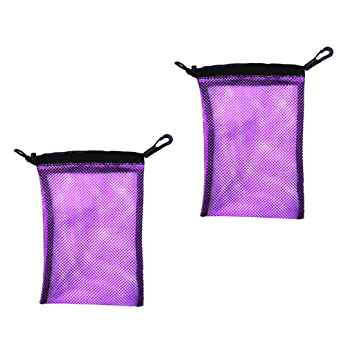 Netztasche mit Karabiner für Tauchen Schnorcheln Schwimmen Mesh Bag