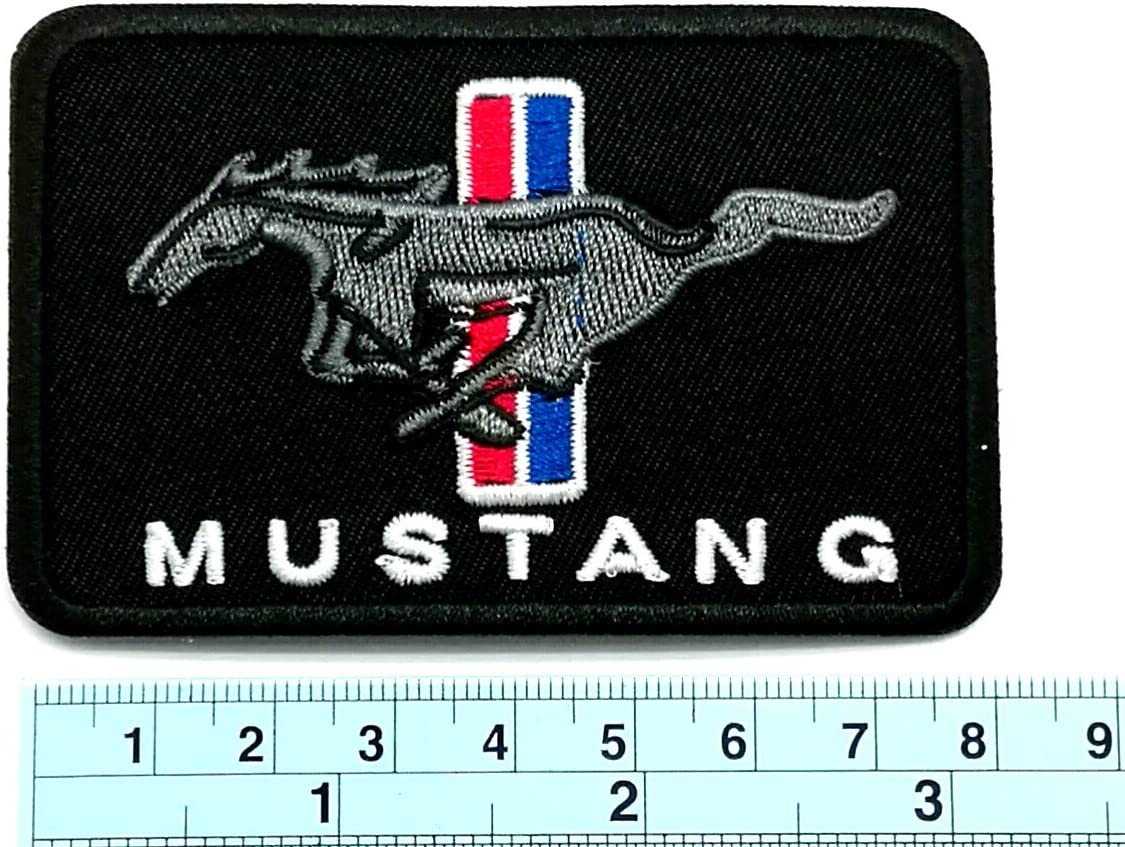 "New Ford Mustang /'Badge/' 1 1//2 X 5/"" Inch  Iron on patch Free Shipping"