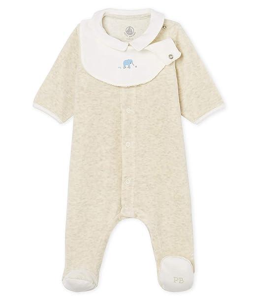 Petit Bateau Badge, Pelele Unisex bebé, Gris (Montelimar Chine 01), 62