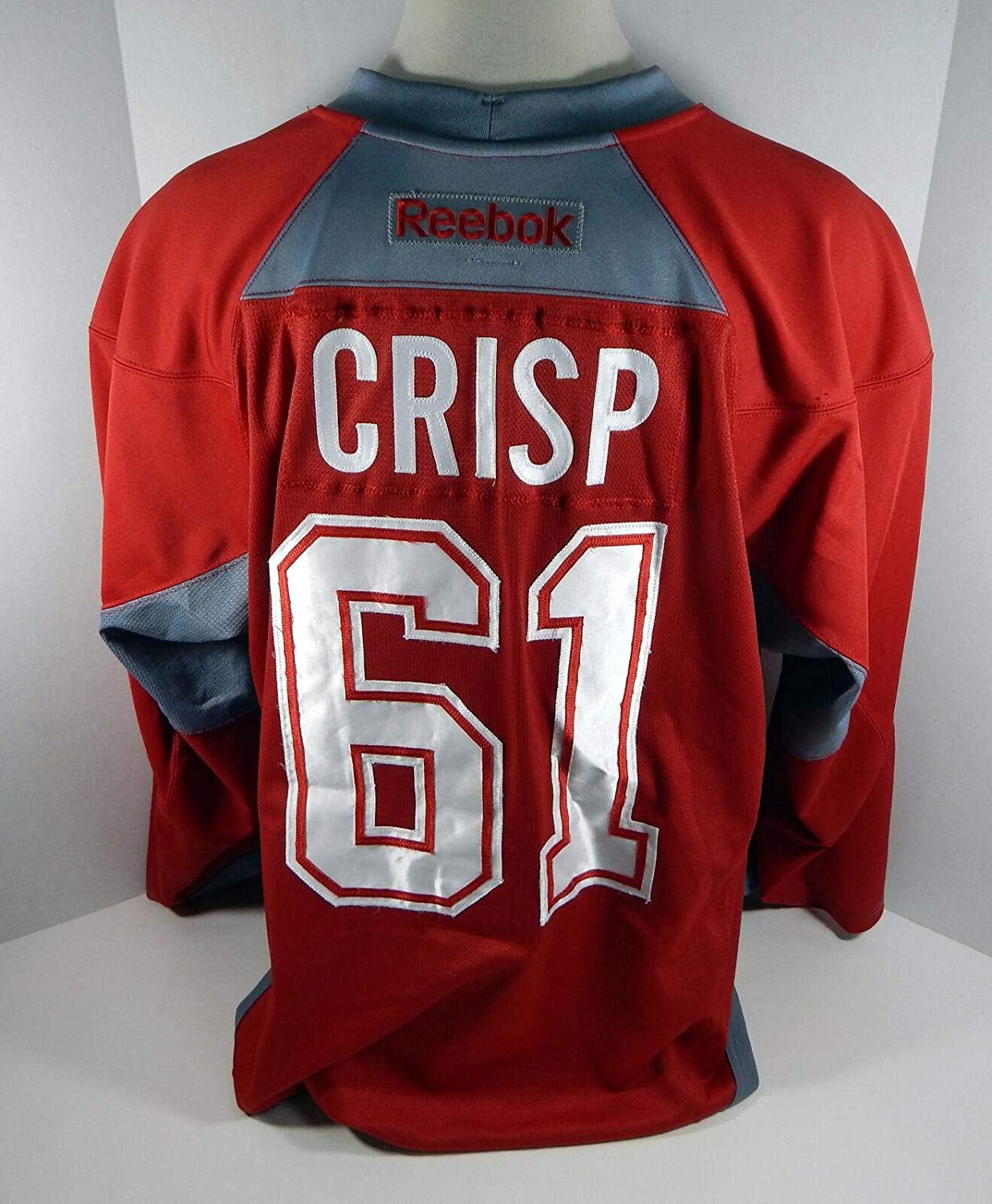 separation shoes 81947 f0060 Montreal Canadiens Connor Crisp #61 Game Used Red Practice ...