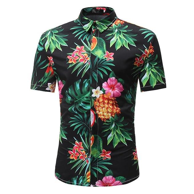 9bb2824e75 Camisa Estampada De Manga Corta para Hombres AIMEE7 Camisas De Hombre De Verano  Camisas De Hombre