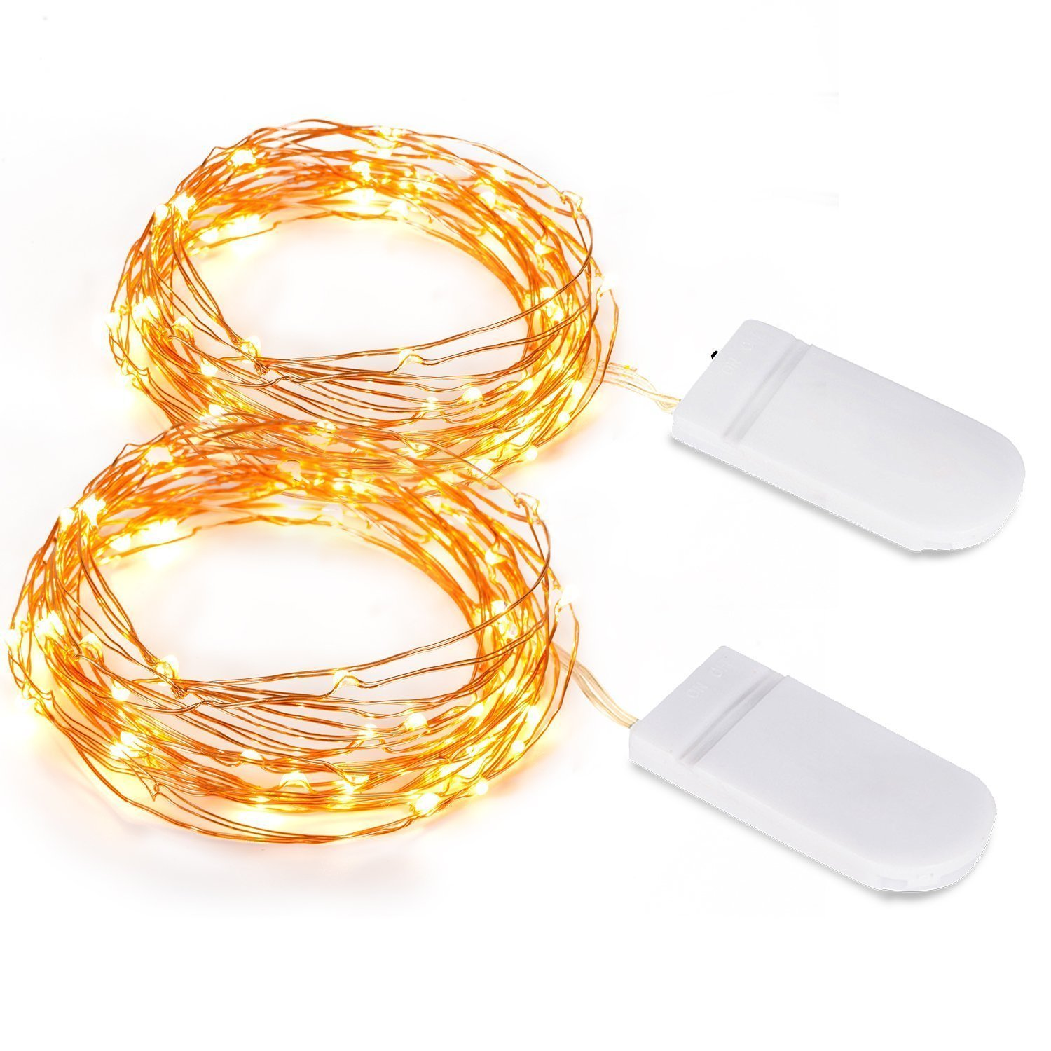 Amazon.com: Battery Operated Christmas String Light, Kohree 2 Pack ...