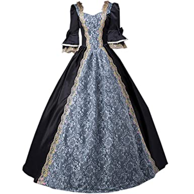 ddcf64ebe054 Amazon.com: I-Youth Womens Royal Queen Medieval Renaissance Dresses  Victorian Civil War Ball Gown Masquerade Costume: Clothing