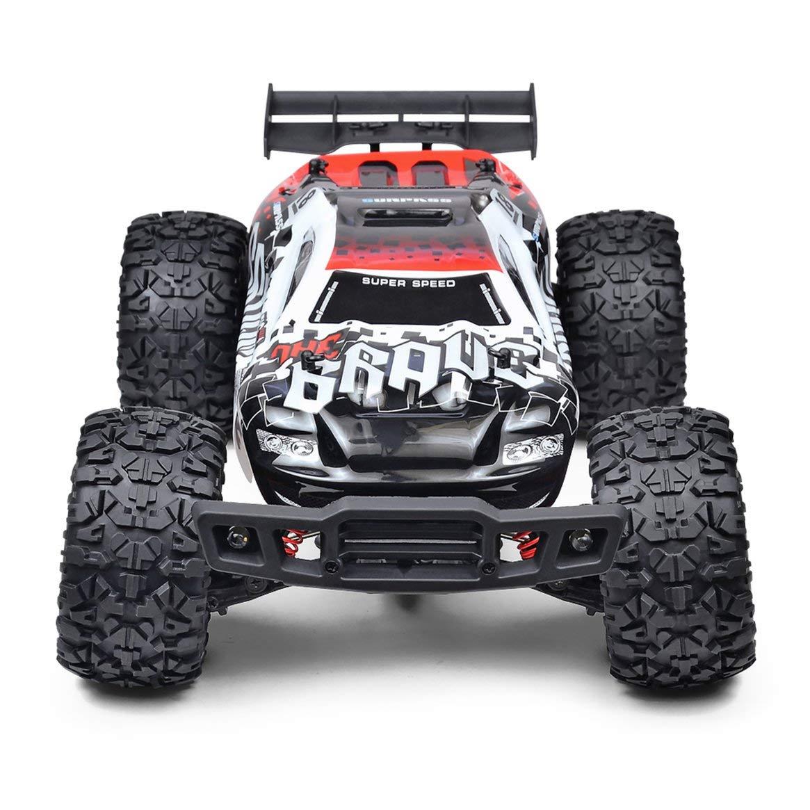 Delicacydex Thunder wasserdicht Offroad-Fahrzeug 1:12 Allradantrieb High-Speed-Modellauto - Weiß