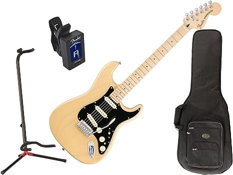 Fender – Stratocaster Guitarra eléctrica (Vintage Rubio – arce ...