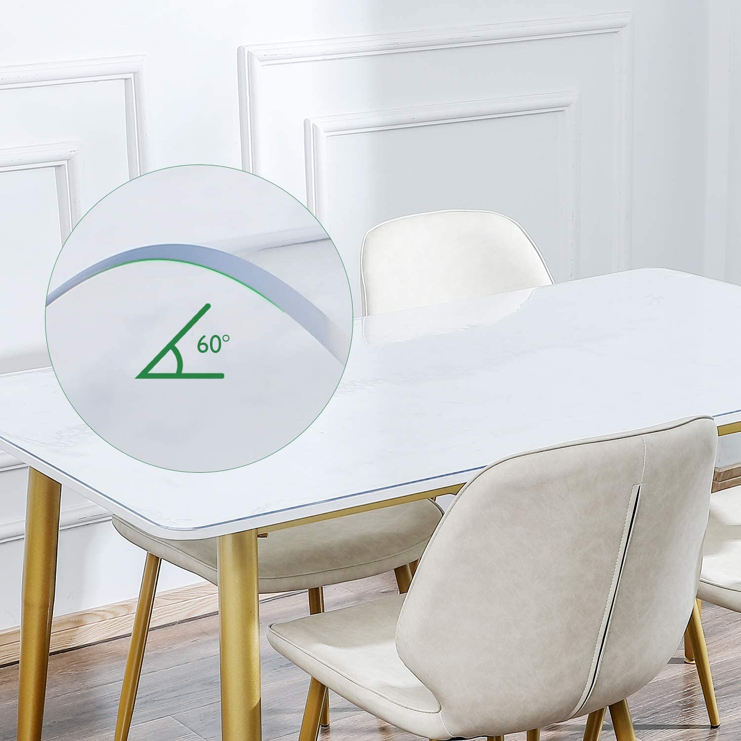 Night Stand and Dresser Tables 12/×12 Inch Multi-Size Optional KSHG Upgrade Odorless Table Cover Clear Plastic Desk Protector 1.5mm Thickness 2Pcs Waterproof Tablecloth Desk Pad for End Table