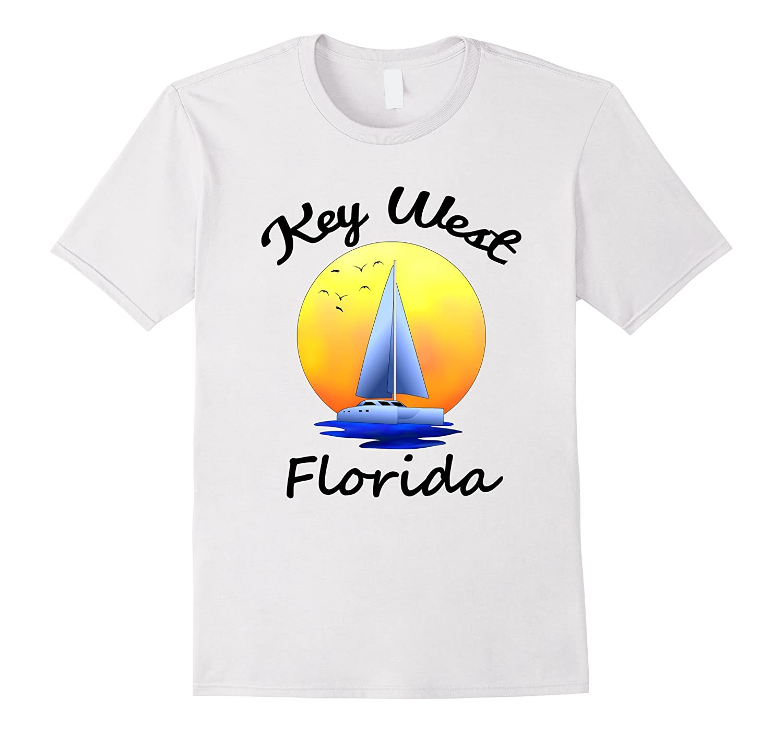 Key West Florida Souvenir Sailing T-Shirt-TH