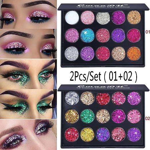 Beauty Essentials New Professional 15 Color Eyeshadow Palette Shimmer Glitter Diamond Eye Shadow Powder Palettes Matte Eye Shadow Cosmetic Make Up Eye Shadow