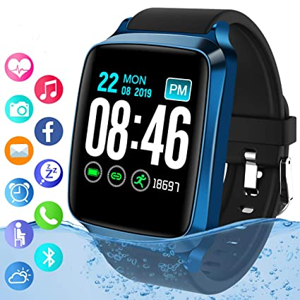 Smart Watch,Bluetooth Smartwatch IP67 Waterproof Fitness Tracker Watch with Heart Rate Monitor Sports Activity Tracker with Step Counter Smart ...
