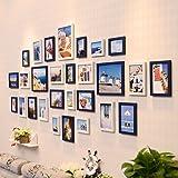 WollWoll Mediterranean Spain Island Photos Wall Decoration Extra Large Photo Frame Set (232 cm x 1.6 cm x 99 cm)