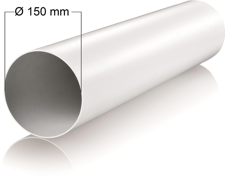 150/mm de di/ámetro longitud 1/m metros de tuber/ía de pl/ástico redondo Tubo Redondo Canal Canalizado Canalizado Canal Campana Canal Di/ámetro de 15/cm y 100/cm de largo Tubo Redondo Tubo de ventilaci/ón