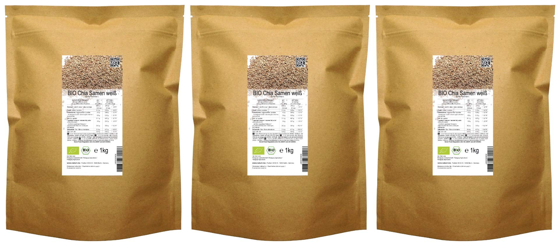 BIO Chia Samen weiß (3 kg ( 3 x 1 kg )) product image