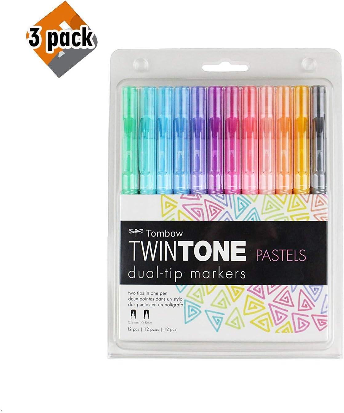 Tombow 61501 TwinTone Juego de rotuladores, pastel, 12 unidades ...