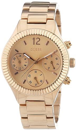 Guess Damen-Armbanduhr Chronograph Quarz Edelstahl beschichtet W0323L3