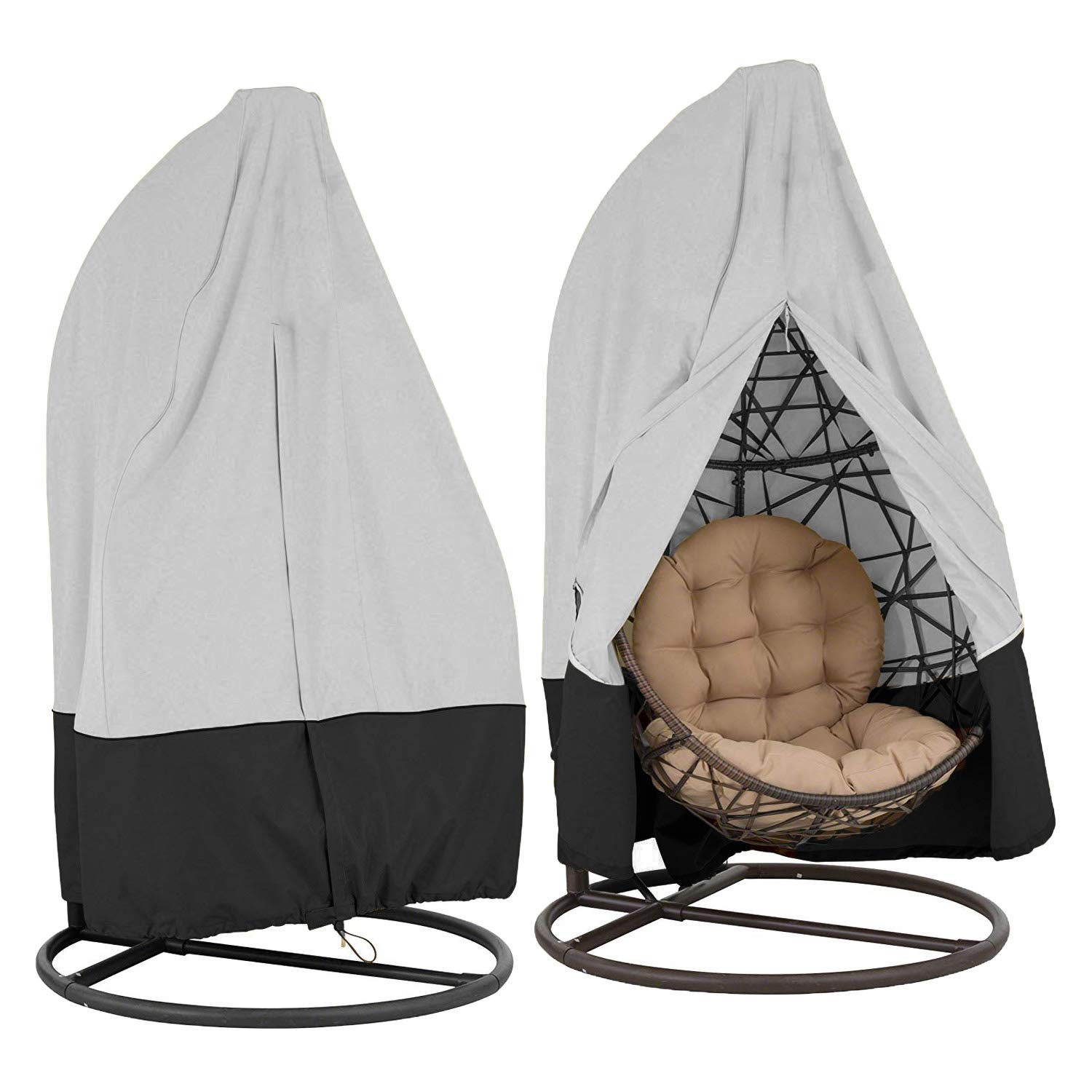 Honcenmax Patio Hanging Chair Cover Cocoon Egg Chair Cover For