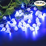 Accmor 100pcs LED Mini Round Ball Balloon Light, Long Standby Time Ball Lights for Paper Lantern Balloon Party Wedding Decoration(Blue)