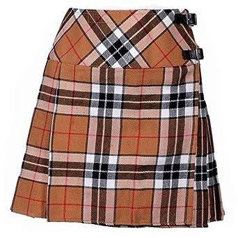 Nuevo de Mujer Royal Stewart de Cuadros Escoceses Mini Falda Escocesa Billie Mod Falda Tallas 6-18UK