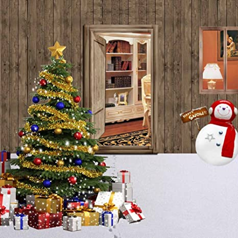 Christmas Tree Outside.Gladsbuy Christmas Tree Outside The House 10 X 10 Computer Printed Photography Backdrop Christmas Theme Background Zjz 016