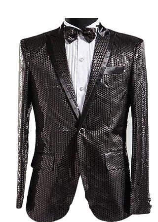 Kangqi Ropa de Hombre Chaqueta de Lentejuelas de los Hombres Slim Fit Sport Coat Jacket Party Wedding Sports Coat: Amazon.es: Deportes y aire libre