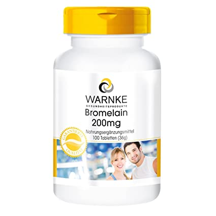 Bromelaína 200mg – 500 FIP – encima de piña natural - 100 comprimidos