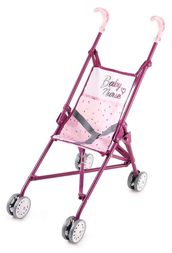 Amazon.es: Smoby Baby Nurse 220406 - Cochecito de bebé, Color Rosa ...