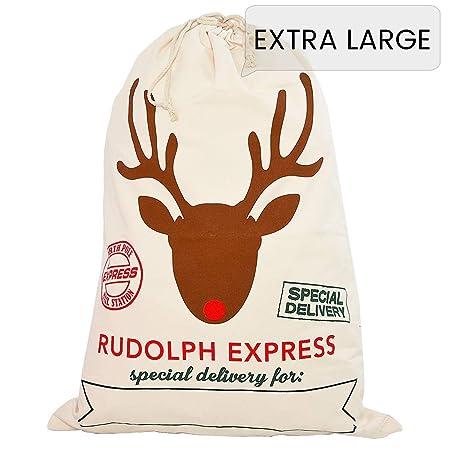 461d3a252f6 Style Slice 1 X Cream Extra Large Santa Sack - Personalised Christmas Eve  Bag Drawstring Hessian Fabric - Xmas Stocking ...
