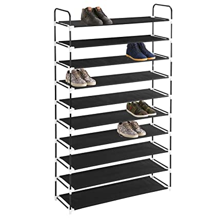 Amazoncom Maidmax 10 Tiers Free Standing Shoe Rack For 50 Pairs Of