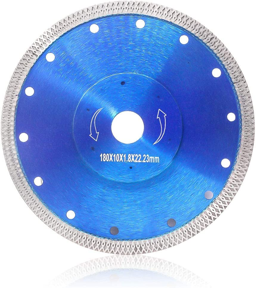 "Supper Thin Diamond Tile Blade Porcelain Saw Blade for Cutting Porcelain Tile Granite Marbles (7"")"