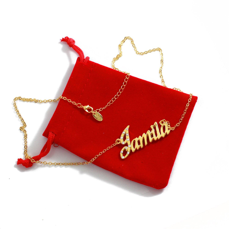 18K Gold Plated Zacria Name Necklace Jamila