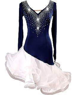 9e1f98b13 SIQIAN Adult/Child Blue Latin Rumba Chacha Jive Samba Party Dance Evening  Modern Dress