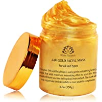 24K Gold Facial Mask By White Naturals:Rejuvenating Anti-Aging Face Mask For Flawless Skin, Reduces Fine Lines &Wrinkles…