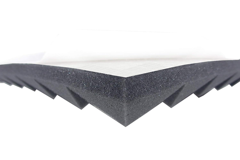 Pyramidenschaumstoff in 4 cm Selbstklebend Schalld/ämmmatten zur effektiven Akustik Schall D/ämmung Akustikschaumstoff AKUSTIK LINE Ca.1m/²