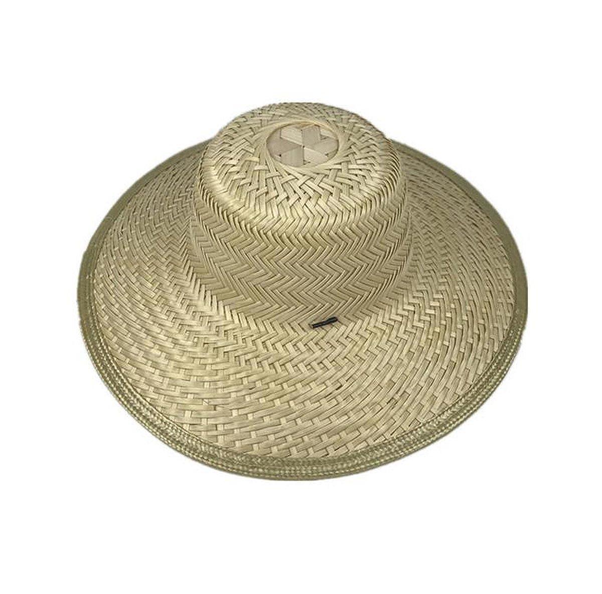 LYM Beach Sun Summer Surf Safari Gardening Bamboo Straw Hat