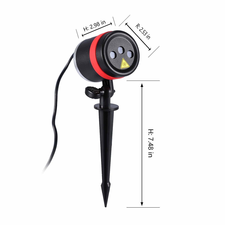 Amazon.com: Lightess Laser Christmas Lights Outdoor RGB Laser Light ...