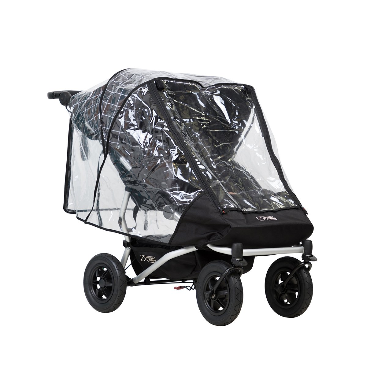 Mountain Buggy Duet Double Cover, Storm, Clear