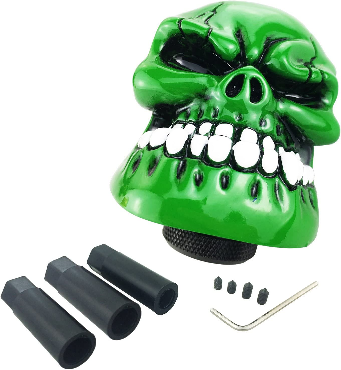 Arenbel Skull Shifter Knob Gear Stick Shifting Shift Knobs Lever Handle fit Most Universal Manual Automatic Vehicle Red